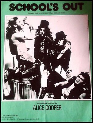 Alice Cooper Songbook School's Out Guitar Piano Voices Noten Chords Lyrics 1972