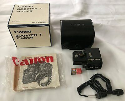 CANON BOOSTER T FINDER FOR CANON F1 and F1n CAMERAS
