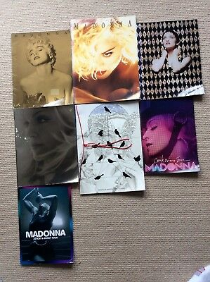 MADONNA Tour Programmes, Who's That Girl, Reinvention Tour, Confessions Tour.