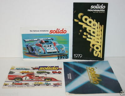 Set Of 4 Solido Catalogues - 1975 / 1976 / 1978 / 1979