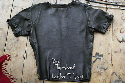Late 1960's Vintage Leather T shirt with Pete Townshend WHO connection
