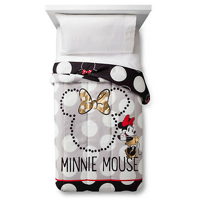 NEW Disney Minnie Mouse Rock the Dots Comforter - Twin