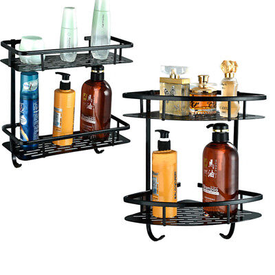 Triangular Shower Caddy Shelf Bathroom Corner Bath Rack Storage Holder Organizer