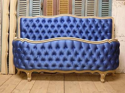 Antique Upholstered French King Size Bed