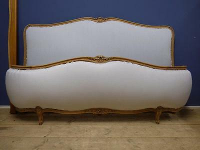 Rare Vintage French Super King Size Bed - New Upholstery - Over 200 French Beds