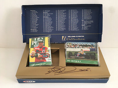 Nigel Mansell SIGNED Williams Celebration Collection Cards F1 World Championship