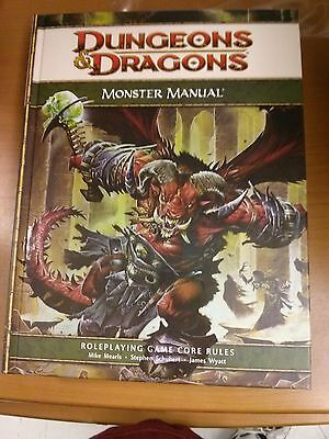 dungeon and dragons 4th ed core rulebook dmg /  players /mm..mint