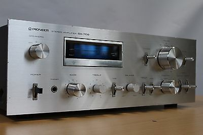 Rare Vintage Pioneer Sa-708 Stereo Amplifier Fluoroscan Blue Line Mm Phono Stage