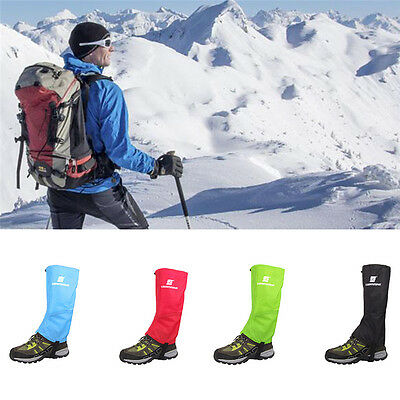 Outdoor Waterproof Climbing Hiking Snow Ski Shoe Leg Cover Boot Legging Gaiters