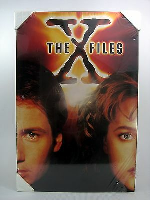 """X-Files Poster Board Vintage 90s Boarded Back Large 34"""" x 23"""" Original Series"""