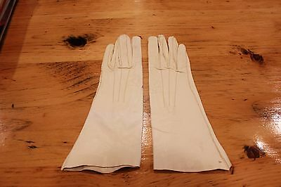 Women's Soft Leather Gloves Russell Glove Co. White 7 1/4