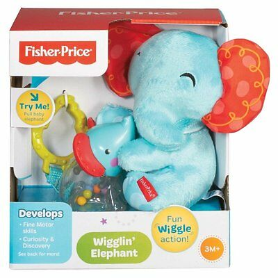 Fisher-Price Wigglin Elephant Baby Toy Brand New In Box Great Gift