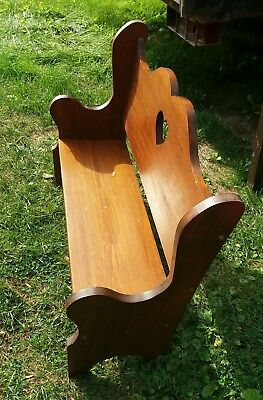 kids wood bench