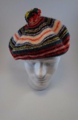 Beret Multi Color Beanie Wool Blend Hat Cap One Size Costume Winter Warm  Fashion 6f0c15806cf