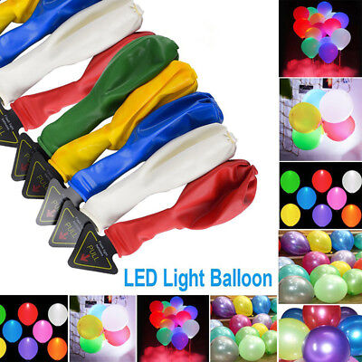 LED Balloon Light Ball Latex Helium Balloons Halloween Decoration Party Supplies
