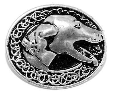 Greyhound Dog Silver Pewter Pagan Rivet Concho