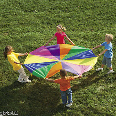 6 Ft. Kids Play Parachute w/ Handles Outdoor Game Activity Toy w/Carry Case