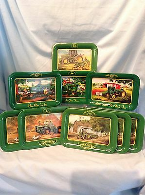 "John Deere Change Trays Lot of 9  Metal 4.5"" x 5.5"" Trademark Marketing $29.99"