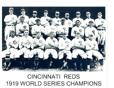 6654392dd97c 1919 World Champions Cincinnati Reds 8X10 Team Photo Baseball Hof Usa