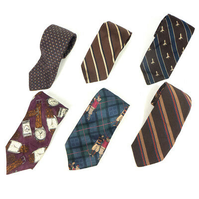 #13 Mixed Lot of 6 Vintage Men's Dresswear Color, Mixed Patterned Neck Ties