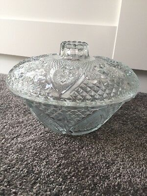 Glass Pot With Lid. Vintage