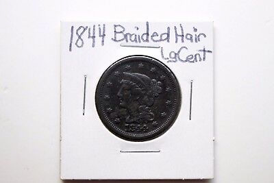 1844  Braided Hair Large Cent (Penny)