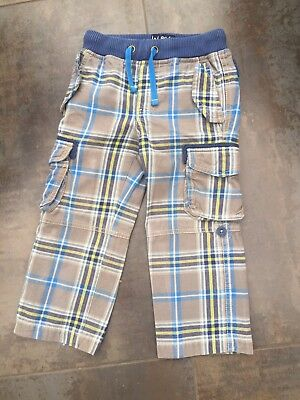 Mini Boden Boys Checked Cargo Trousers Age 3 Yrs
