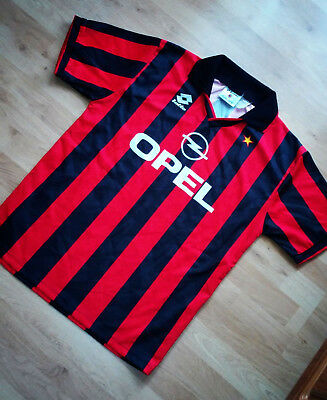 Shirt Maglia Ac Milan Italy 1994 1995 Home Lotto Very Good Condition Size L