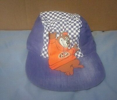 Vintage A&W Rootbeer Rooty Bear Painters Bicycle Hat