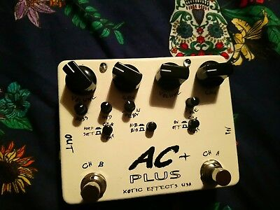 Xotic AC + Plus Dual Drive Pedal USA boutique overdrive boost NO RESERVE