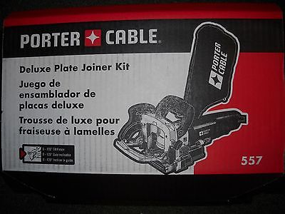 Porter-Cable 557 Deluxe Plate Joiner Kit Biscuit w/ Tilt Fence New Electric Tool