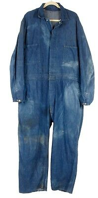 Vintage 40s 50s Whitefield S & B Denim Railroad Coveralls Jumpsuit Work Wear