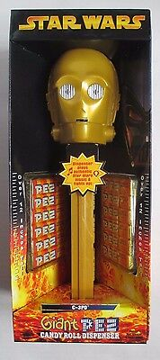 Star Wars GIANT PEZ C-3PO plays Star Wars MUSIC & LIGHTS UP! 12 In Tall 2005 NEW