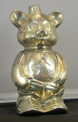* Vintage Silver Plated Childs Bear Bank
