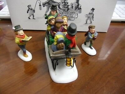 Dept 56 Dickens Village CAROLING WITH THE CRATCHIT FAMILY w/ box Combine Ship!