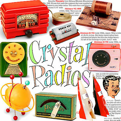 TOY CRYSTAL RADIOS volume ONE-- full color book of vintage radios