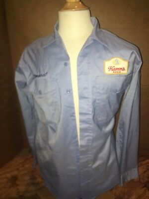 Clean HAMM'S BEER Long Sleeve Delivery Uniform Shirt ADVERTISING Patches Unitog