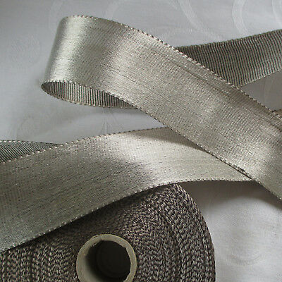 Beautiful Vintage Silver Lame' Ribbon Quality Item French