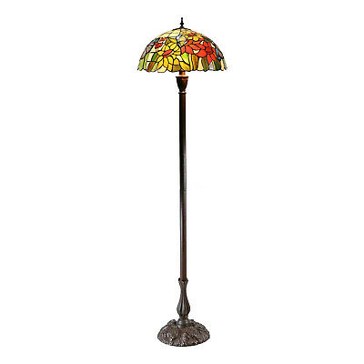 NEW Large Traditional Butterfly Sunflower Tiffany Floor Lamp