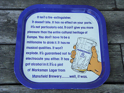 Marksman Lager Beer Tray - Mansfield Brewery