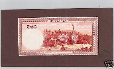 Romania Epreuve Uniface Proof 500 Lei Nd (1934) Pick 36 S Rare