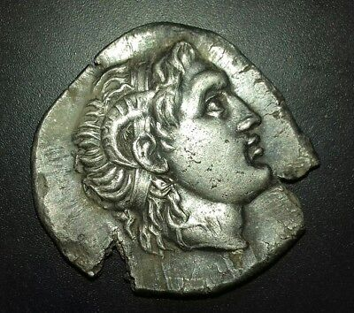 Ancient Greek Silver Alexander the Great Tetradrachm Coin of Lysimachos - 297 BC
