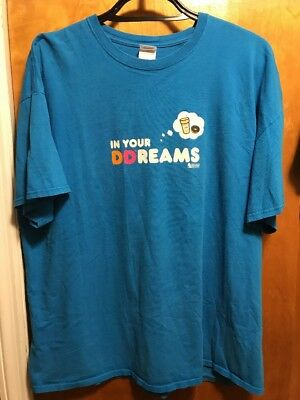 DUNKIN DONUTS COFFEE ~ Men's 2XL ~ In Your DREAMS ~ ICE COFFEE ~ T Shirt