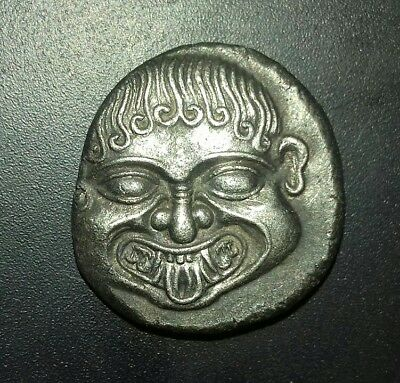 Ancient Greek Silver Stater Coin Neapol 500-480 BC