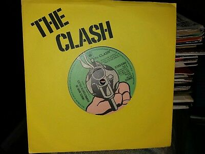 "The Clash Rare 7"" 45 Single Vinyl White Man In Hammersmith Palais Yellow Sleeve"