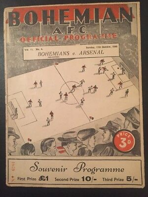 Bohemians V Arsenal 17/10/1948
