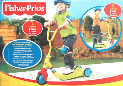 Brand New Fisher-Price 3 Wheel Tri Kick Push Scooter Kids Children Boys Girls UK