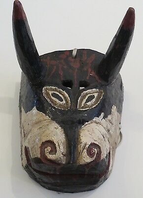 Great Vintage Guatemalan Bull Mask/Highland area, probably Quiche