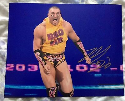 wwe mojo rawley signed autographed 8x10 photo with proof