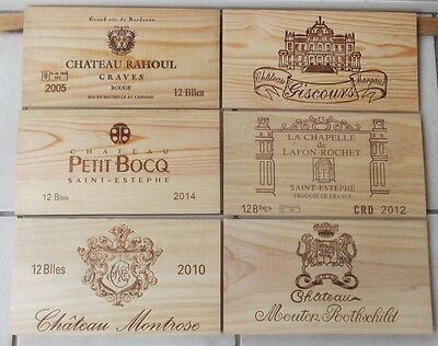 Lot De 6  Estampes  , Facades   Bois   Grands Crus